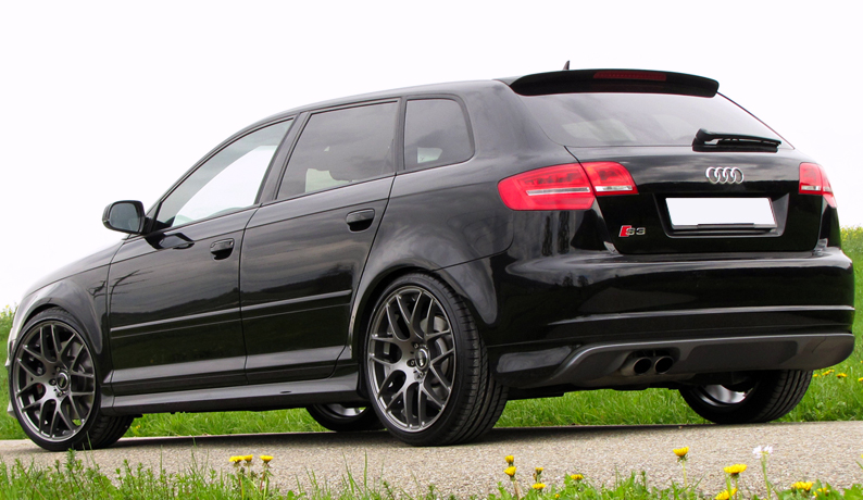 audi a3 8p 5 door sportback s line s3 look spoiler. Black Bedroom Furniture Sets. Home Design Ideas