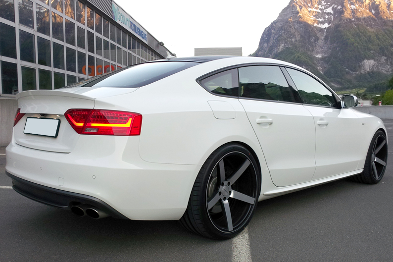 audi a5 sportback s line rs5 look spoiler 2009 2015 ebay. Black Bedroom Furniture Sets. Home Design Ideas