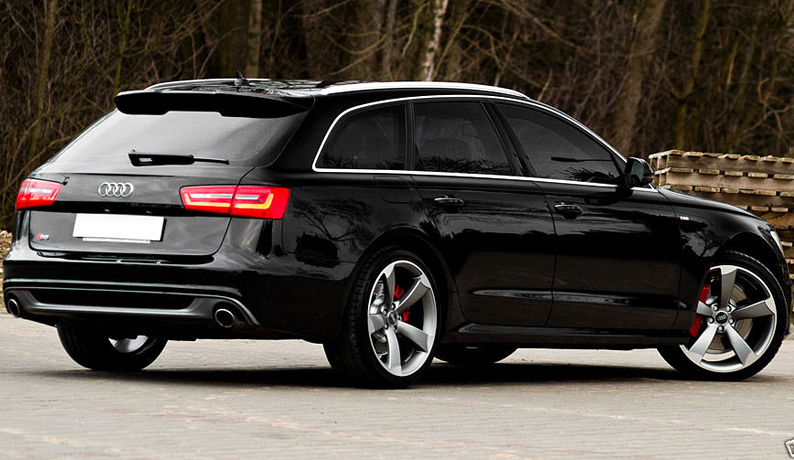 audi a6 c7 avant s line s6 rs6 look spoiler from 2011. Black Bedroom Furniture Sets. Home Design Ideas