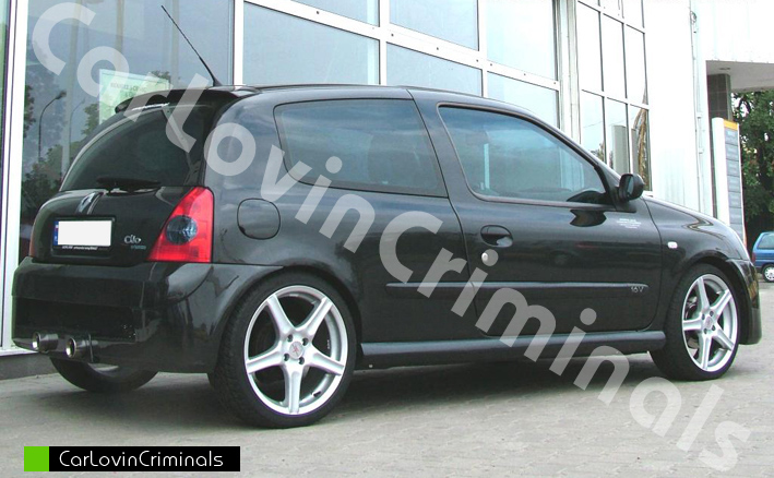 renault clio 2 body kit 2x bumper side skirts spoiler. Black Bedroom Furniture Sets. Home Design Ideas