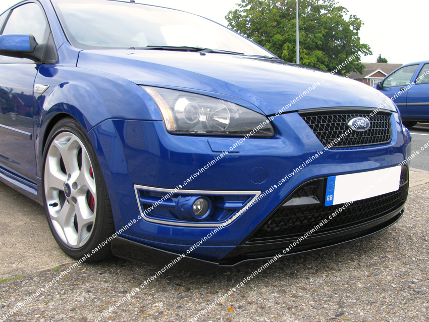 ford focus mk2 st front lip splitter valance ebay. Black Bedroom Furniture Sets. Home Design Ideas