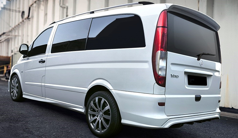 mercedes vito mk2 viano w639 tailgate spoiler 2003 2014 ebay. Black Bedroom Furniture Sets. Home Design Ideas
