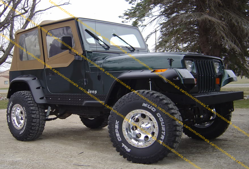 jeep wrangler yj fender flares 6 inches arch extensions ebay. Cars Review. Best American Auto & Cars Review