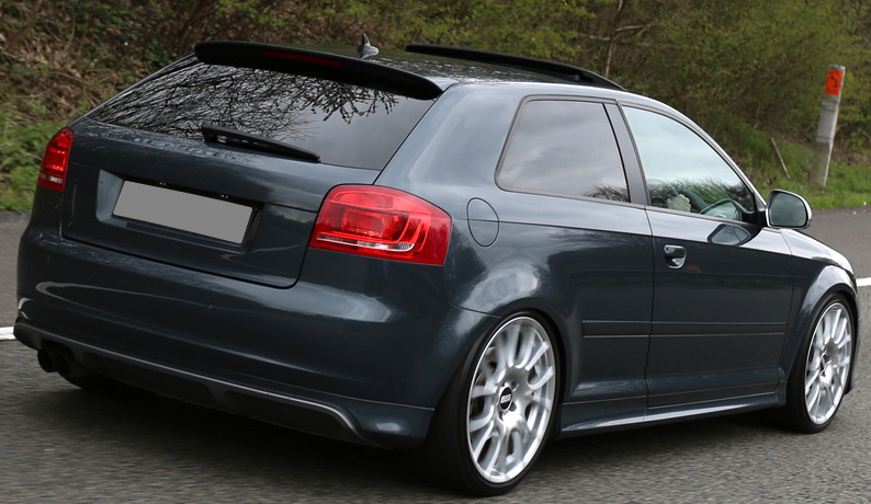 audi a3 8p 3 door s line spoiler 2003 2013 ebay. Black Bedroom Furniture Sets. Home Design Ideas