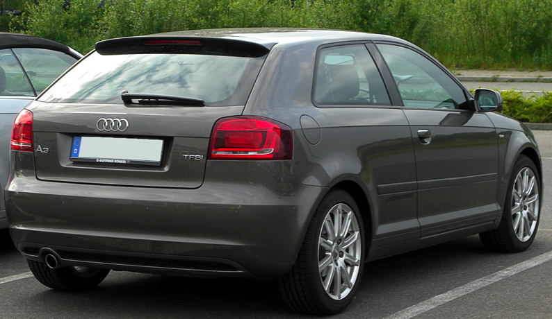 audi a3 8p 3 portes aileron becquet s line style 2003 2013 ebay. Black Bedroom Furniture Sets. Home Design Ideas