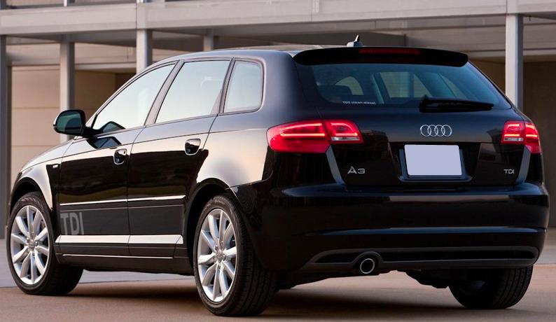 Audi A3 Sportback Business Line >> Spoiler rear wing audi a3 8p sportback 5 door s-line/s3 ...