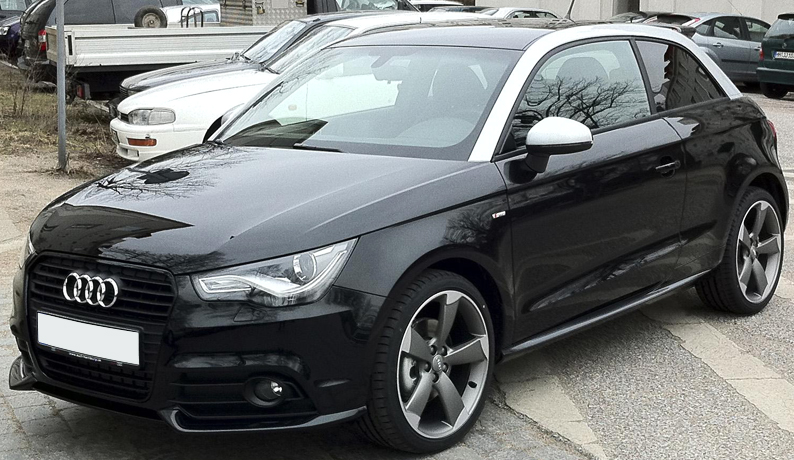 audi a1 front lip splitter valance spoiler ebay. Black Bedroom Furniture Sets. Home Design Ideas