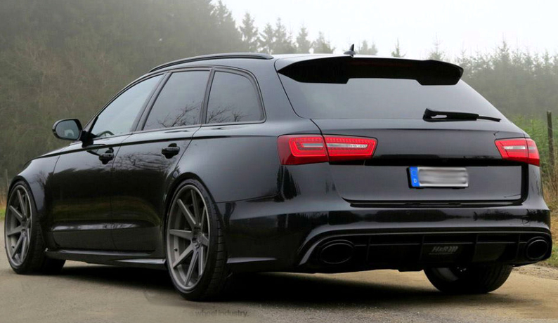 audi a6 c7 avant s line s6 rs6 look spoiler from 2011 ebay. Black Bedroom Furniture Sets. Home Design Ideas