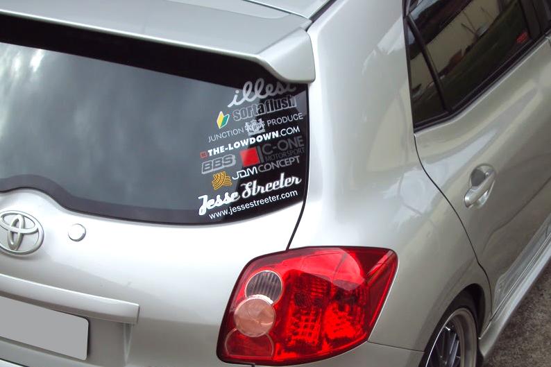 D/'origine Toyota Auris toit spoiler aileron arrière