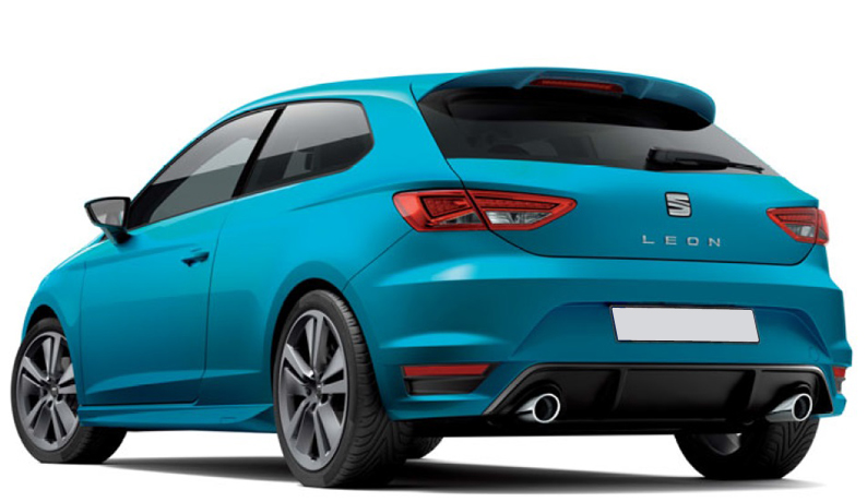 FR 2013- Roof spoiler Seat Leon 5F SC 3-doors incl PU