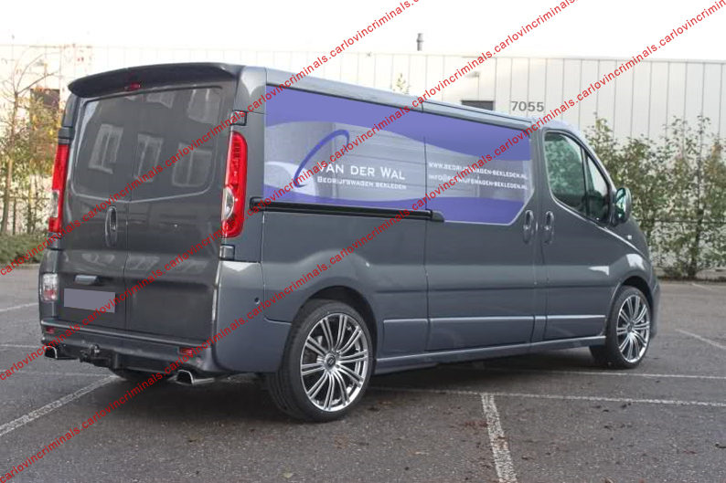 vauxhall vivaro renault trafic barn doors spoiler ebay. Black Bedroom Furniture Sets. Home Design Ideas