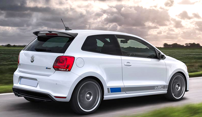 vw polo mk5 6r spoiler from 2009 polo r wrc look ebay. Black Bedroom Furniture Sets. Home Design Ideas