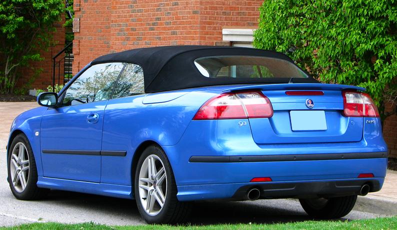 saab 9 3 ys3f convertible cabrio aero look spoiler 2002 2012 ebay. Black Bedroom Furniture Sets. Home Design Ideas
