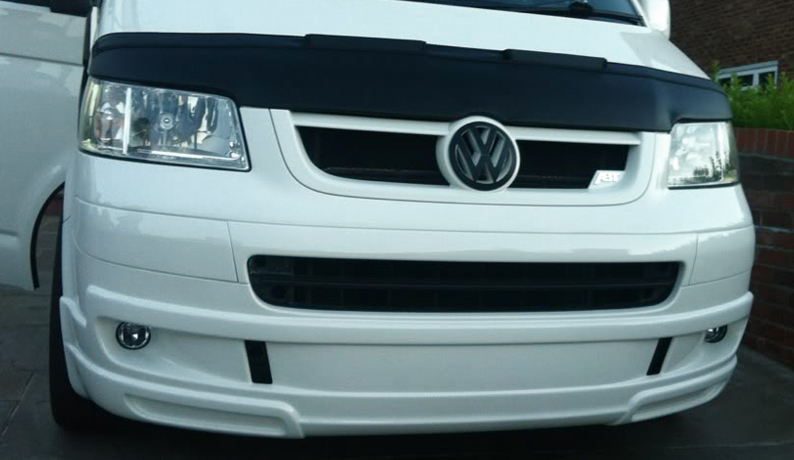 vw t5 caravelle multivan sportline look front bumper. Black Bedroom Furniture Sets. Home Design Ideas